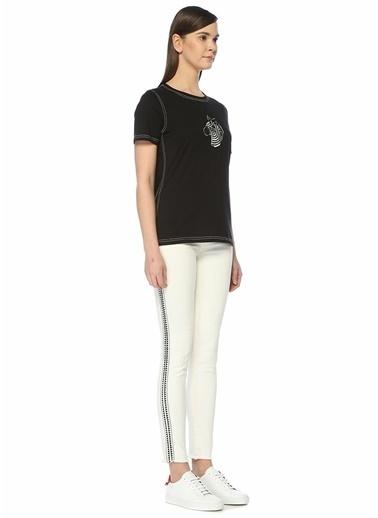 Beymen Club Nakış Detaylı Skinny Jean Pantolon Ekru